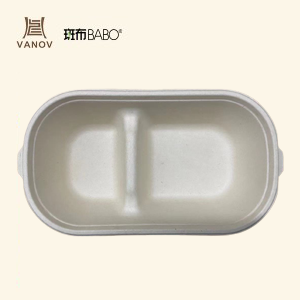 100% Compostable Disposable Bamboo Salad Bowl