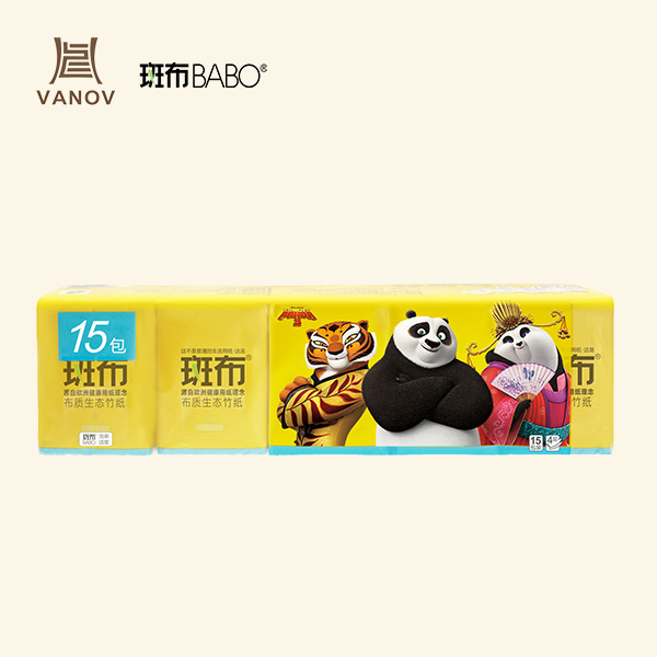 BABO Pocket Facial Tissue 15-Pack Kung Fu Panda Featured Image