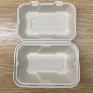 Biodegradable Eco Friendly Bamboo Take Out to Go Food Containers with Lids
