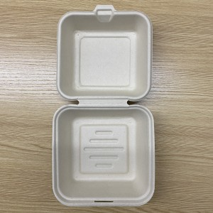 Eco friendly compostable Food grade Bamboo hamburger box